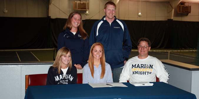 Lexington High School's Elise Betscher recently committed to MU women's tennis for 2014-15.