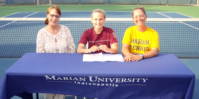 Former Wyoming state champion Veronica Clark committed to Marian University women's tennis.