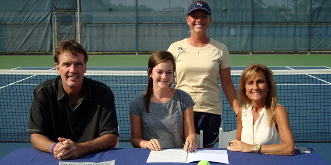 Bishop Dwenger's Audrey Rang is the first to commit to MU women's tennis for 2014-15.