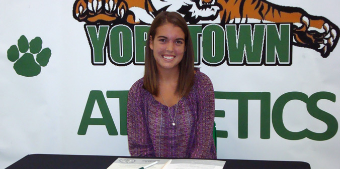 Yorktown's Paige Swan is the second commitment for the 2014-15 season of MU women's tennis.