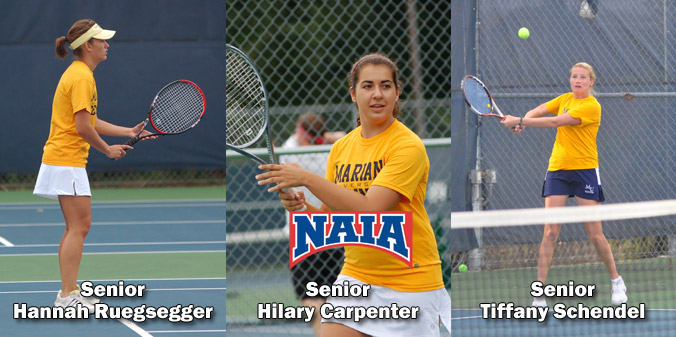 A trio of seniors were named 2013 Daktronics-NAIA Scholar Athletes.