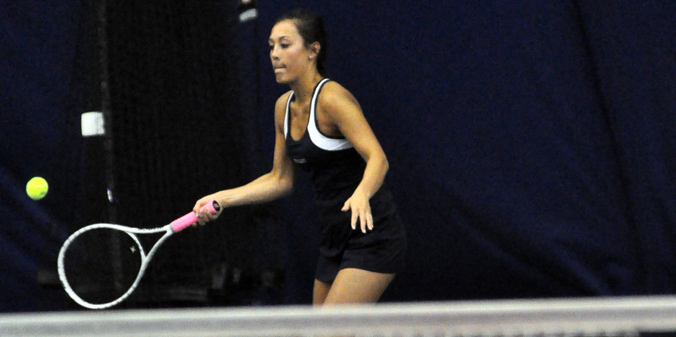 Sophomore Colleen Yager teamed with senior Olivia Pursell for MU's lone doubles win on Tuesday.